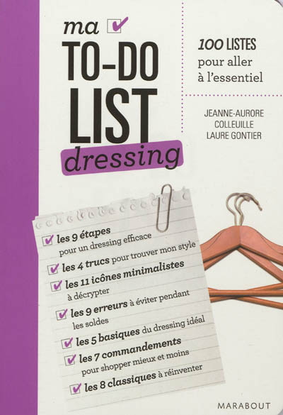 Ma to-do list dressing | Colleuille, Jeanne-Aurore. Auteur