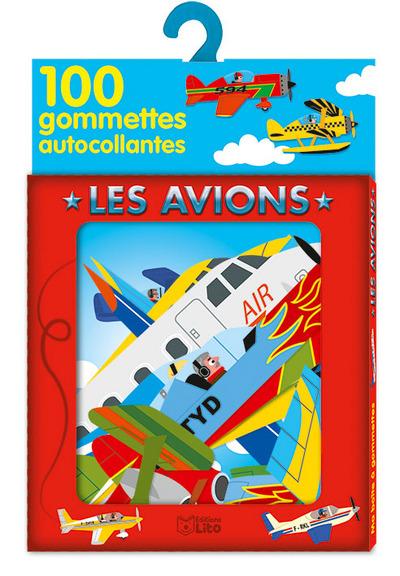 Les avions : 100 gommettes autocollantes