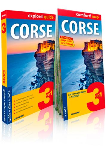 Corse : 3 en 1 : guide + atlas + carte / auteur du texte Agnieszka Fundowicz | Fundowicz, Agnieszka. Auteur