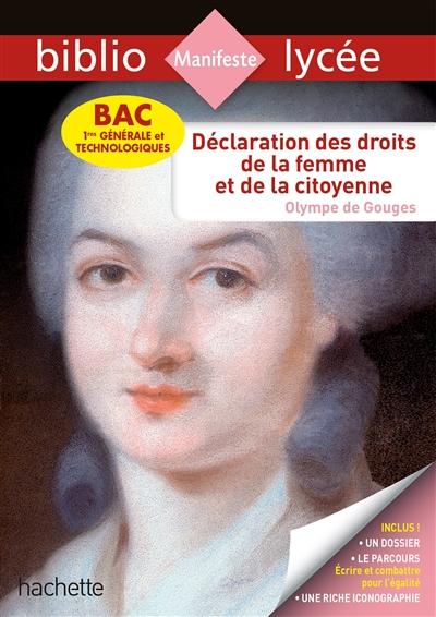 Déclaration des droits de la femme et de la citoyenne : bac 1res générale et technologique