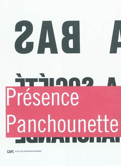Présence Panchounette   Laubard, Charlotte. Commissaire d'exposition