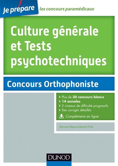 Culture générale et tests psychotechniques : concours orthophoniste
