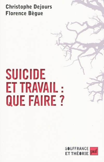 Suicide au travail : que faire ?   Dejours, Christophe (1949-....). Auteur