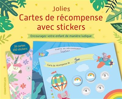 Jolies cartes de récompense avec stickers : encouragez votre enfant de manière ludique