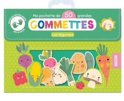 Les légumes : ma pochette de 50 grandes gommettes
