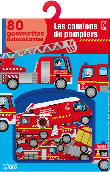 Les camions de pompiers : 80 gommettes autocollantes