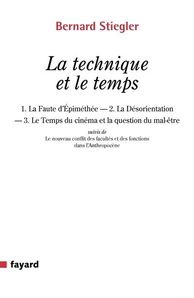 La technique et le temps