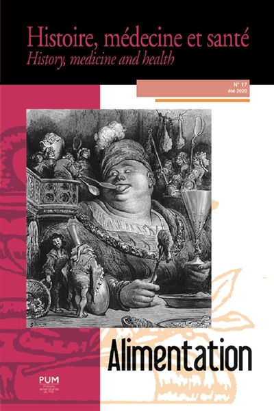 Histoire, médecine et santé = History, medicine and health, n° 17. Alimentation