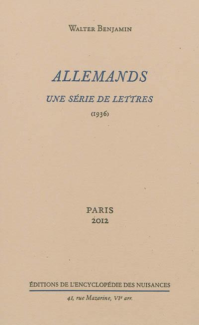 Allemands : une série de lettres (1936)